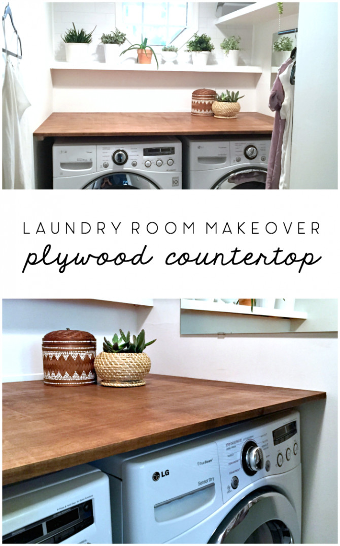 Best ideas about DIY Laundry Room Countertop . Save or Pin Laundry Room Makeover DIY Plywood Countertop – The Ugly Now.