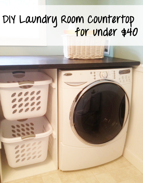 Best ideas about DIY Laundry Room Countertop . Save or Pin Mommy Monday – DIY Washer & Dryer Counter Top for under Now.