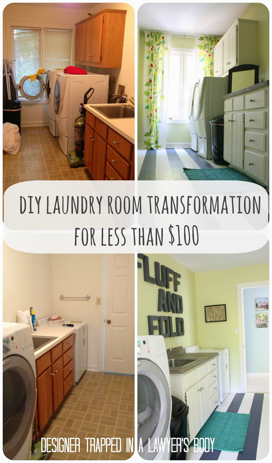 Best ideas about Diy Laundry Room . Save or Pin $71 00 DIY Laundry Room Makeover Now.