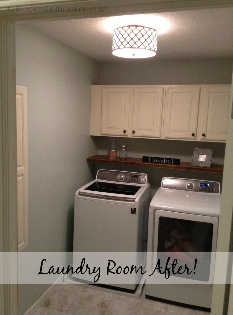 Best ideas about Diy Laundry Room . Save or Pin DIY Laundry Room Makeover Stretching a Buck Now.
