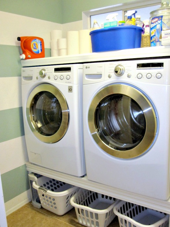 Best ideas about Diy Laundry Room . Save or Pin DIY Laundry Room Makeover Classy Clutter Now.