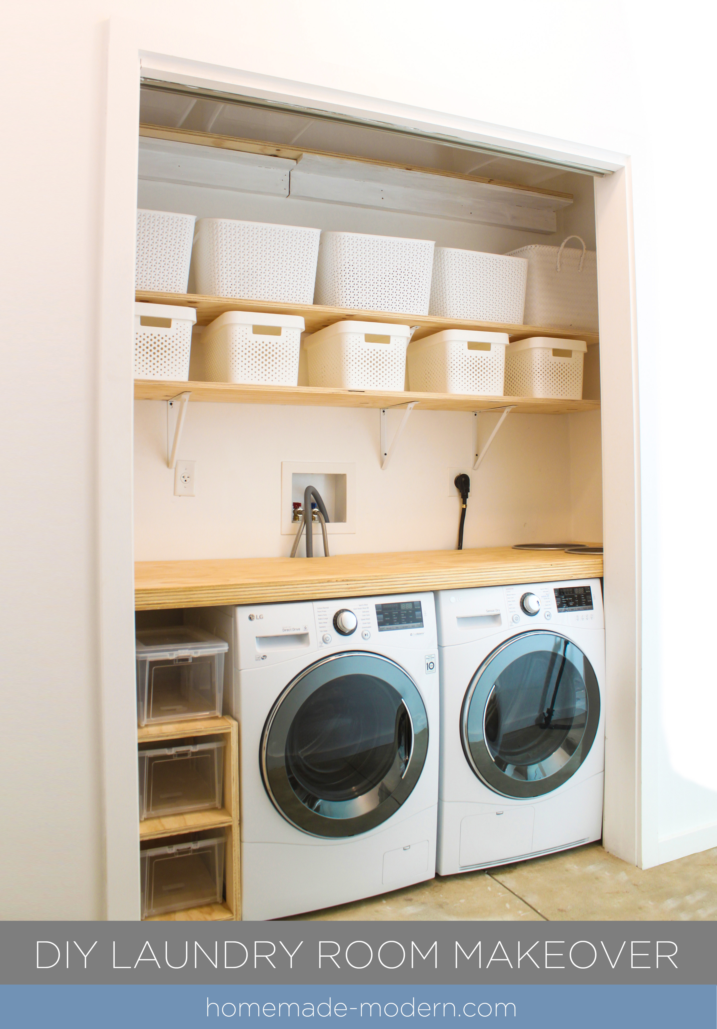Best ideas about Diy Laundry Room . Save or Pin HomeMade Modern EP114 DIY Laundry Room Makeover Now.