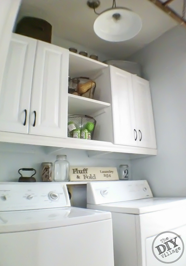 Best ideas about Diy Laundry Room Shelves . Save or Pin Laundry Room Makeover the DIY village Now.