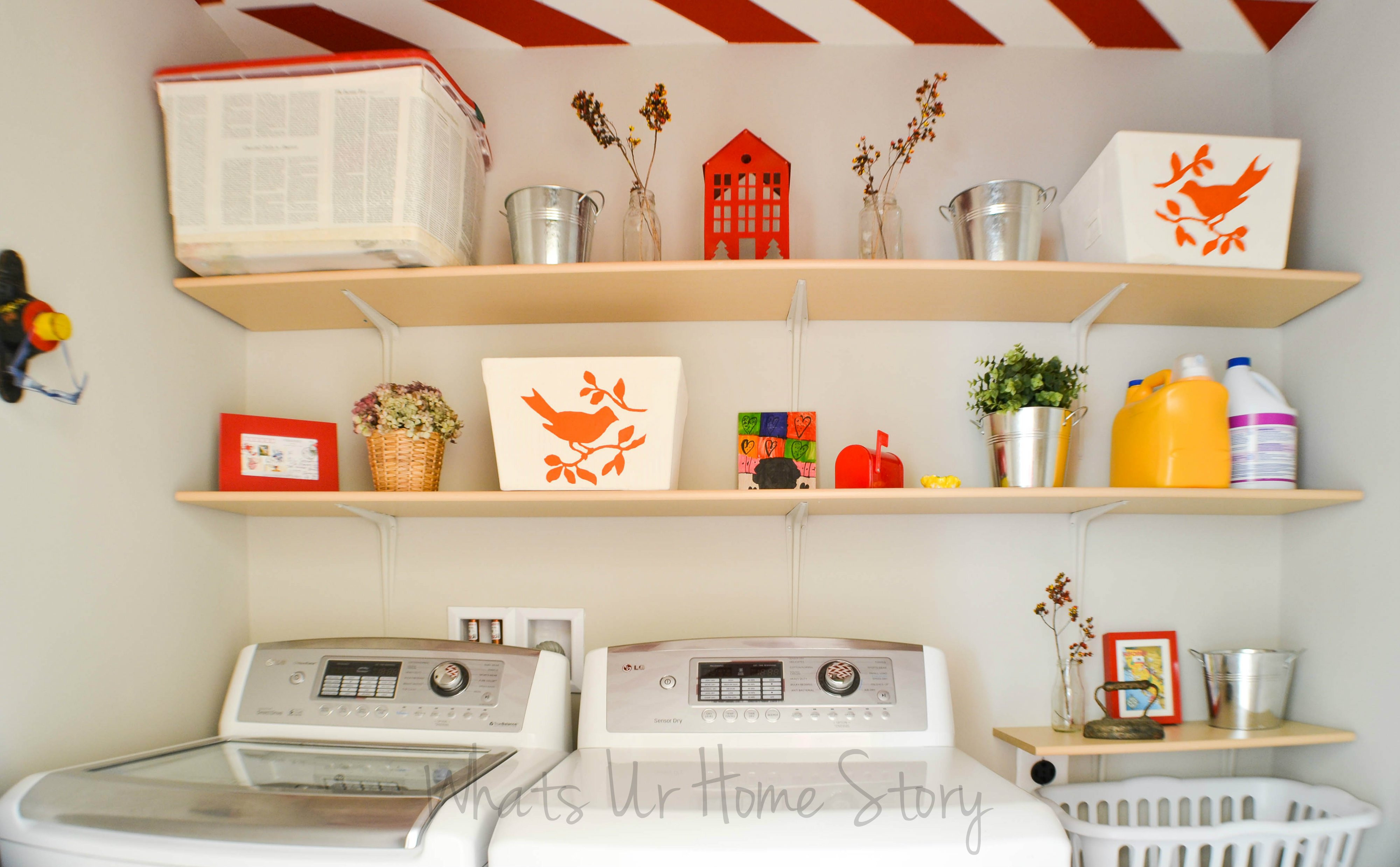 Best ideas about Diy Laundry Room Shelves . Save or Pin Simple DIY Wall Shelves for the Laundry Room Now.