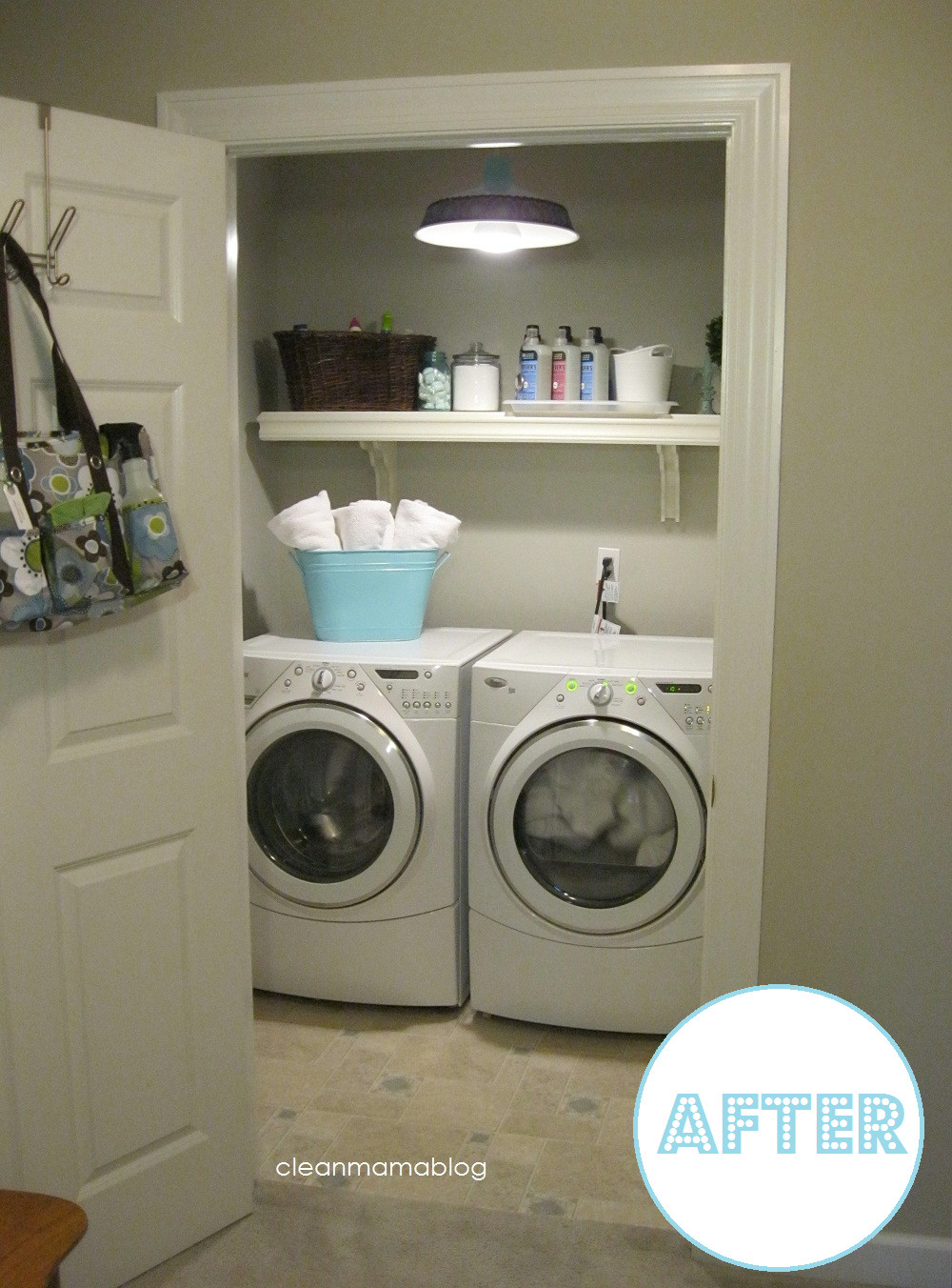 Best ideas about Diy Laundry Room . Save or Pin Wayfair DIY Challenge My Laundry Room Clean Mama Now.