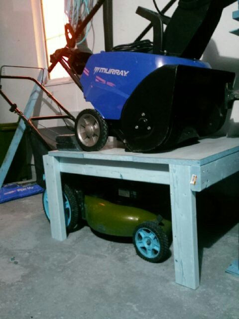 Best ideas about DIY Lawn Mower Storage . Save or Pin Lawn Mower Snowblower storage A great way to make some Now.