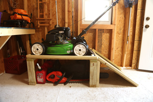 Best ideas about DIY Lawn Mower Storage . Save or Pin Lawn Mower Storage Caddy Now.