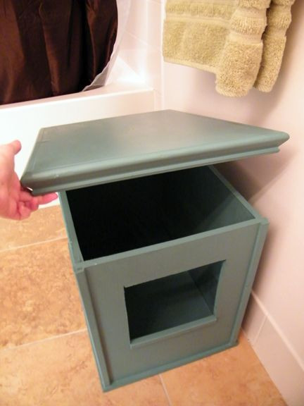 Best ideas about DIY Litter Box Cover . Save or Pin DIY Kitty Litter Box Now.