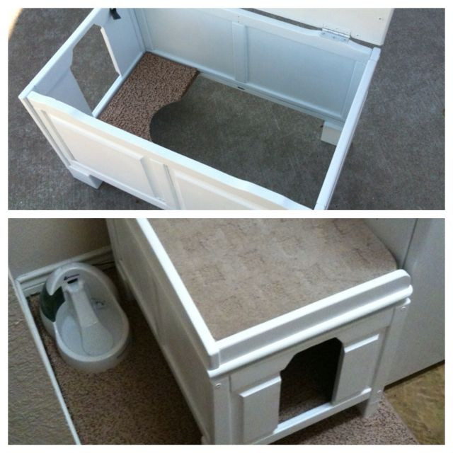 Best ideas about DIY Litter Box Cover . Save or Pin My DIY cat litter box cover I took an old wooden toy box Now.