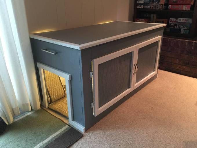 Best ideas about DIY Litter Box Enclosure . Save or Pin Litter Box Enclosure wood Now.