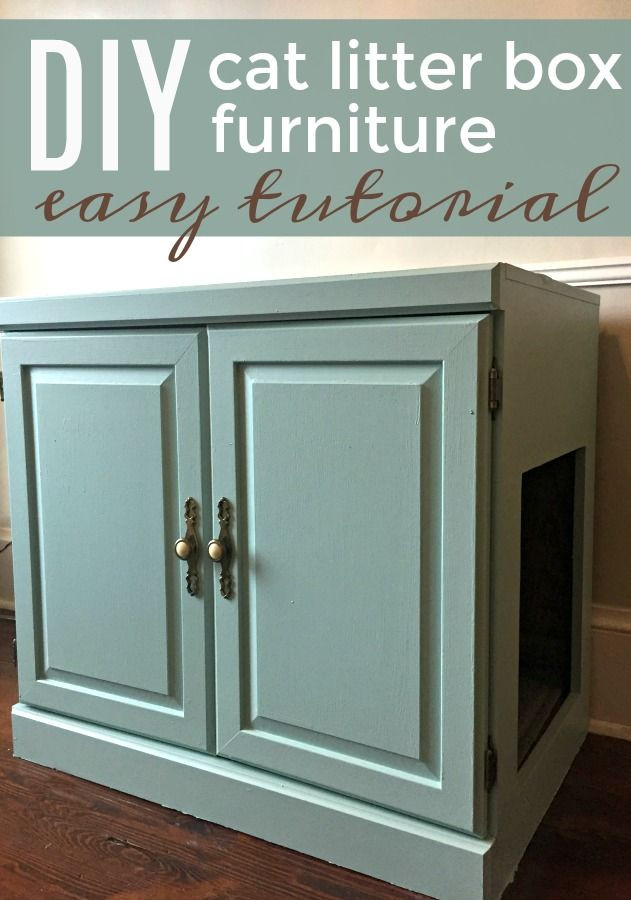 Best ideas about DIY Litter Box Enclosure . Save or Pin Old Cabinet to Cat Litter Box Furniture WOW Hide a Now.