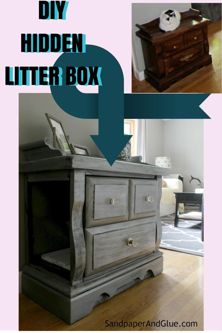 Best ideas about DIY Litter Box Enclosure . Save or Pin DIY Hidden Litter Box from SandpaperAndGlue Now.