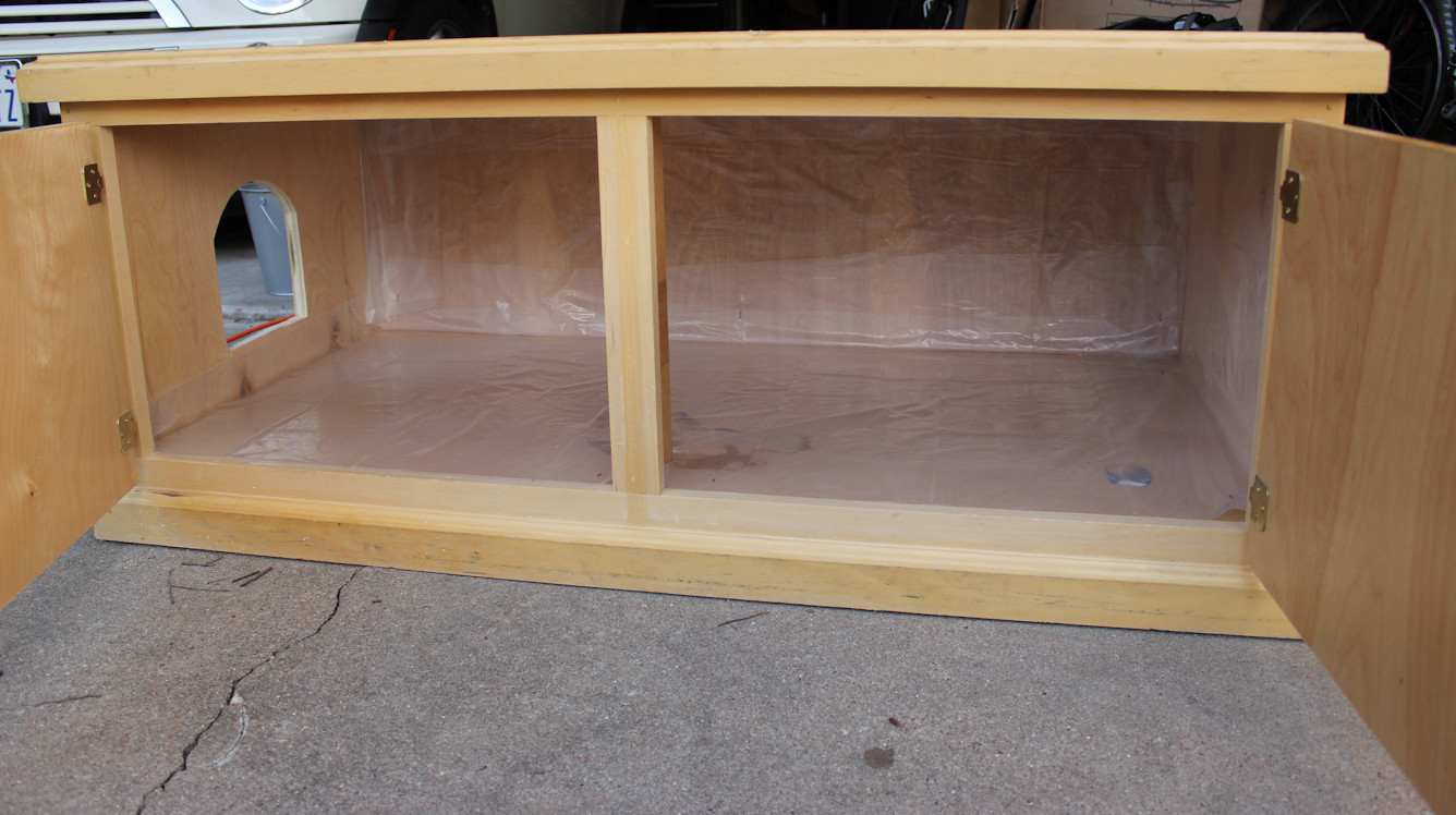 Best ideas about DIY Litter Box Enclosure . Save or Pin Making furniture to hide those litter boxes Now.