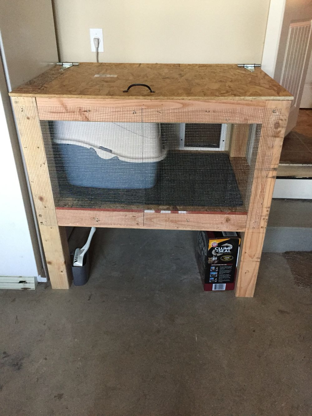 Best ideas about DIY Litter Box Enclosure . Save or Pin Cat enclosure Door from our laundry room into the garage Now.