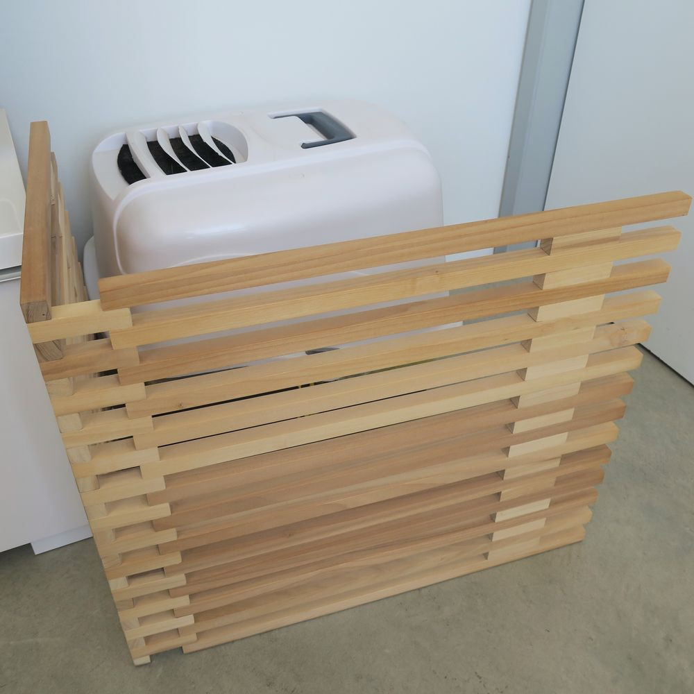 Best ideas about DIY Litter Box Enclosure . Save or Pin DIY cat litter box screen made from square dowels Fits Now.