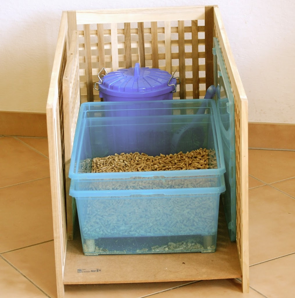 Best ideas about DIY Litter Box . Save or Pin DIY wood pellet litter box Now.