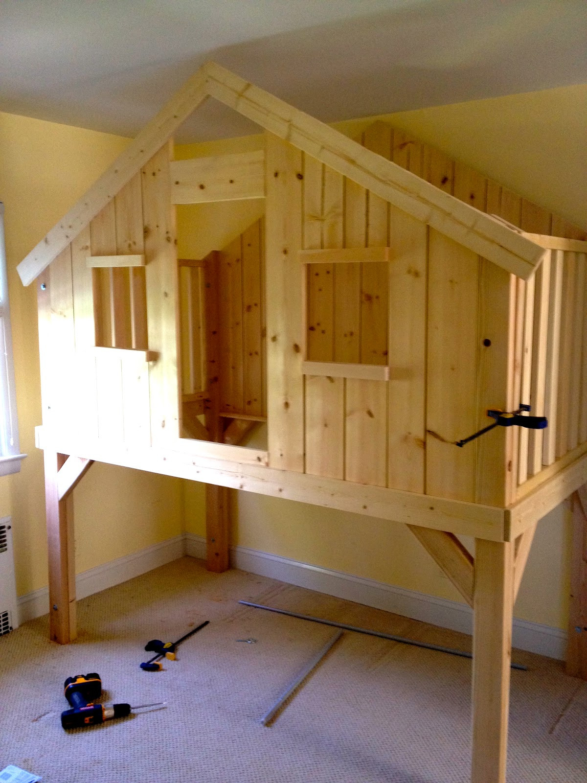 Best ideas about DIY Loft Bed For Kids . Save or Pin Clubhouse Loft Bed For Kids Now.