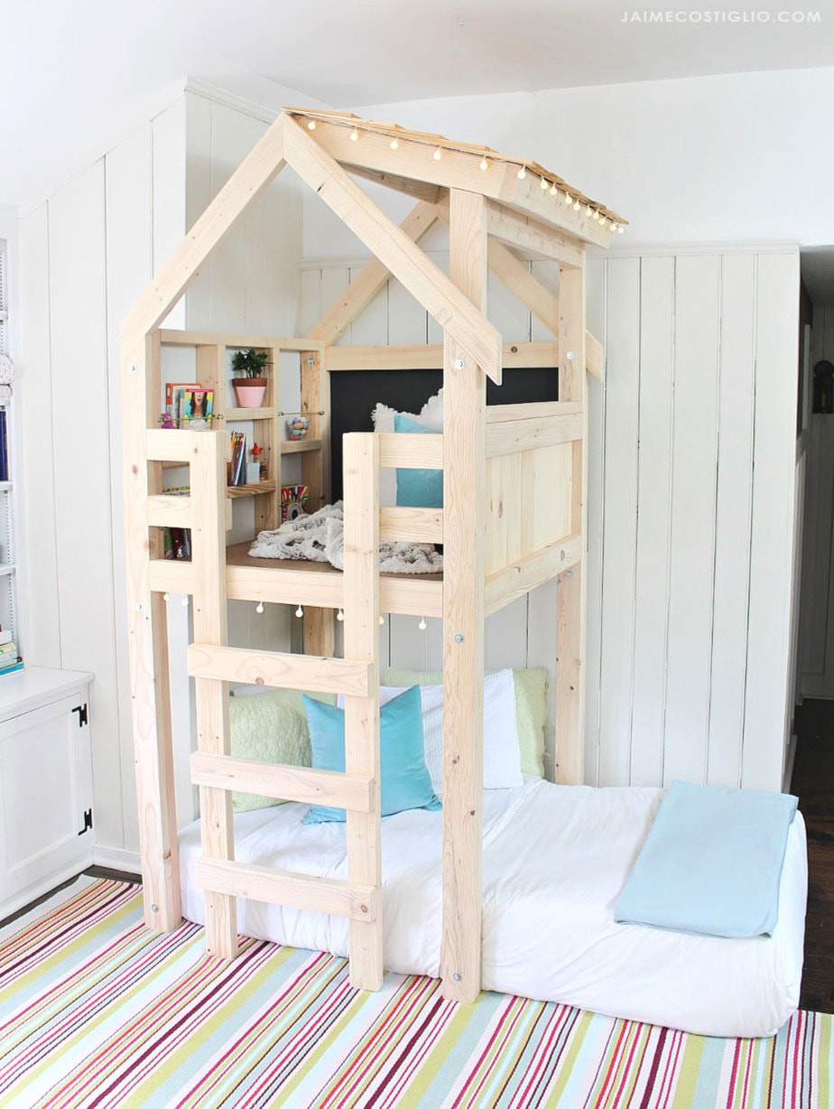 Best ideas about DIY Loft Bed For Kids . Save or Pin DIY Over Bed Kids Loft Jaime Costiglio Now.