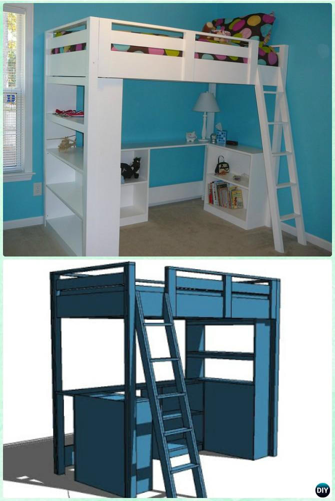 Best ideas about DIY Loft Bed For Kids . Save or Pin DIY Kids Bunk Bed Free Plans [Picture Instructions] Now.