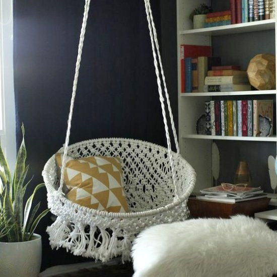 Best ideas about DIY Macrame Hanging Chair . Save or Pin DIY Macramé Hanging Chair DIY Furniture Now.