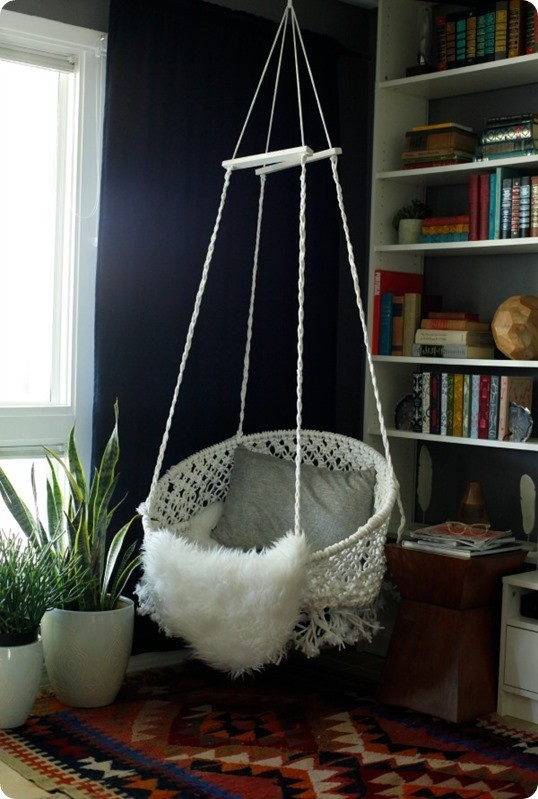 Best ideas about DIY Macrame Hanging Chair . Save or Pin Hanging Macrame Chair Now.