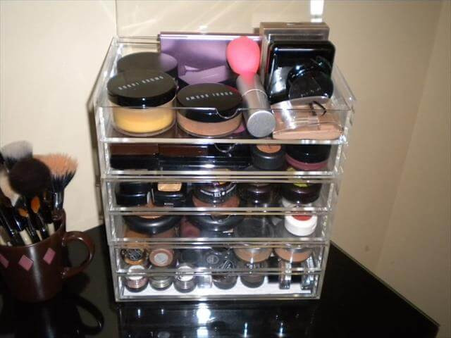Best ideas about DIY Makeup Storage Ideas . Save or Pin 11 DIY Homemade Makeup Box Ideas Now.