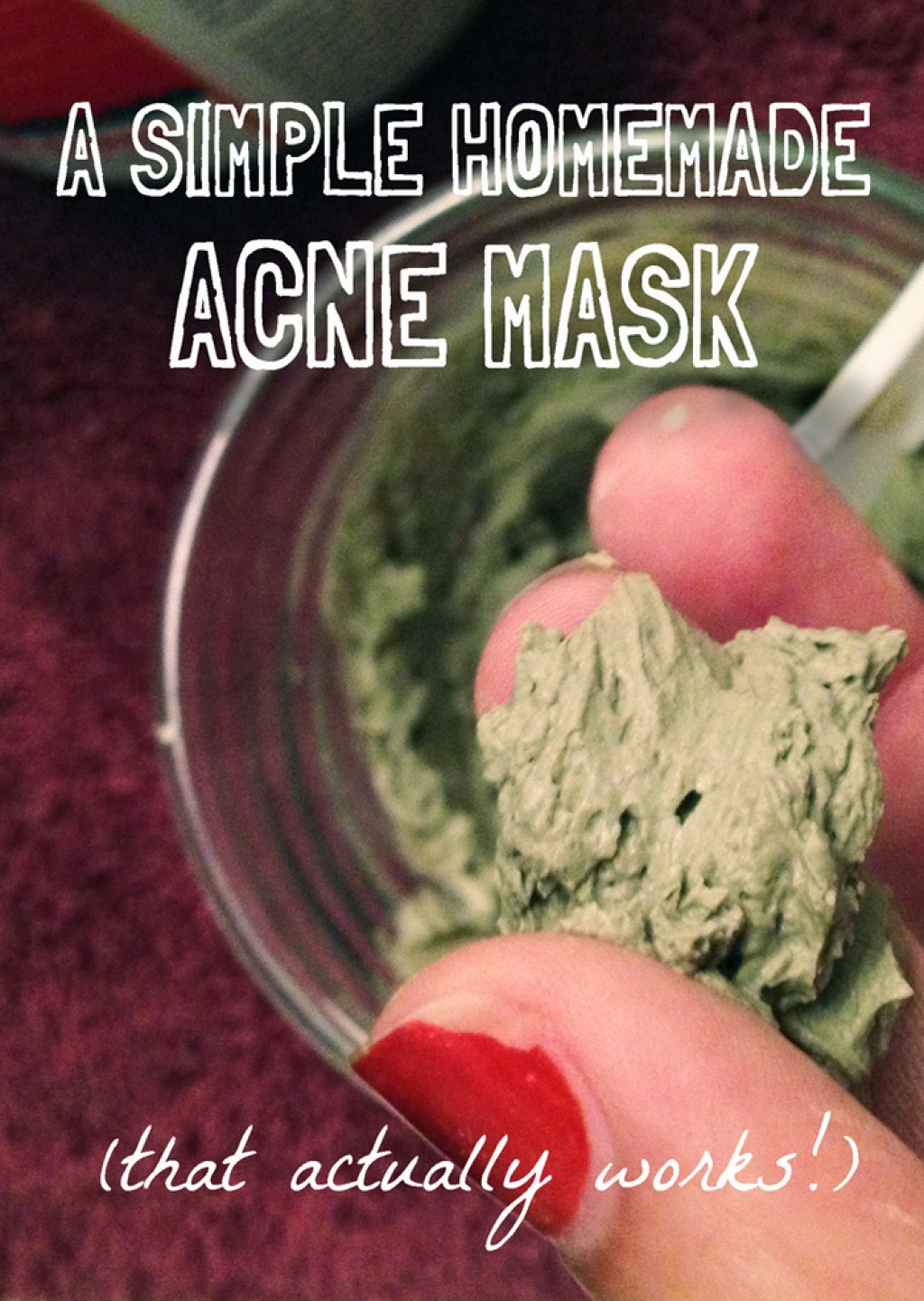 Best ideas about DIY Mask For Acne . Save or Pin A Simple Homemade Mask for Acne That Actually Works Now.