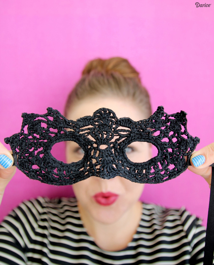 Best ideas about DIY Masquerade Mask . Save or Pin DIY Masquerade Mask Crochet Pattern Darice Now.