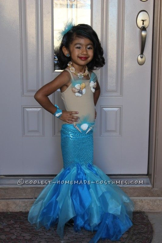 Best ideas about DIY Mermaid Costume For Kids . Save or Pin Pretty Little Mermaid Costume for a Toddler Now.
