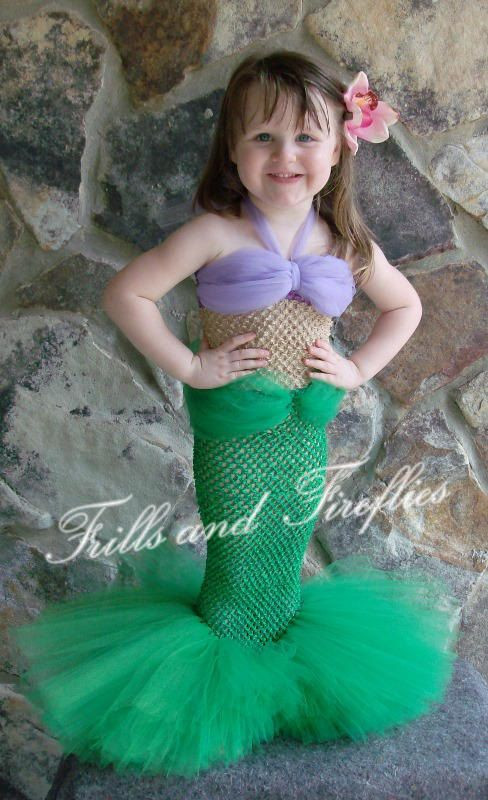 Best ideas about DIY Mermaid Costume For Kids . Save or Pin Mermaid Costume Girls Mermaid Costume Set w Flower Hair Now.