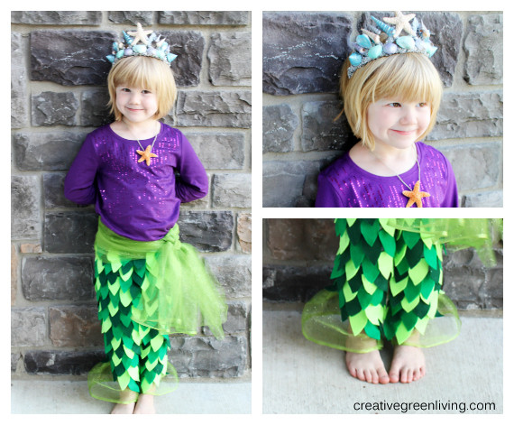 Best ideas about DIY Mermaid Costume For Kids . Save or Pin Mermaid Costume Tutorial includes no sew option Now.