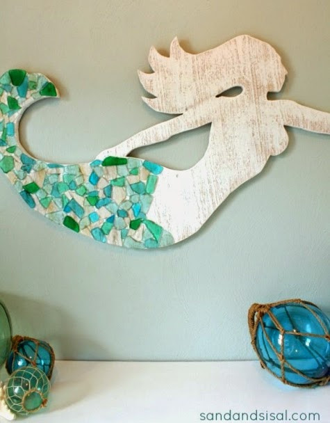 Best ideas about DIY Mermaid Room Decor . Save or Pin Make a Wood Mermaid for Wall Decor DIY Inside Decor or Now.