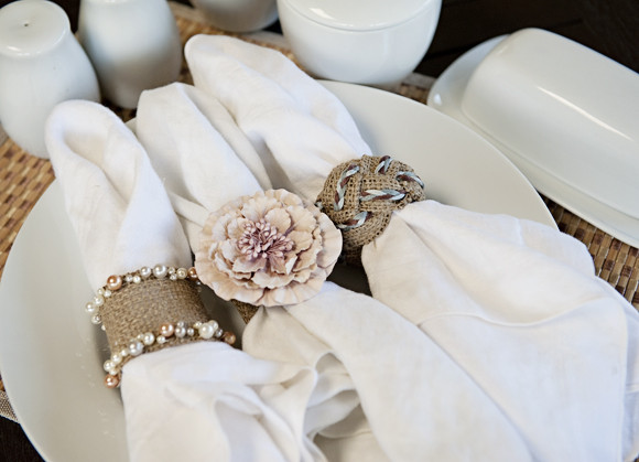 Best ideas about DIY Napkin Rings For Weddings . Save or Pin DIY How To Burlap Napkin Rings Now.