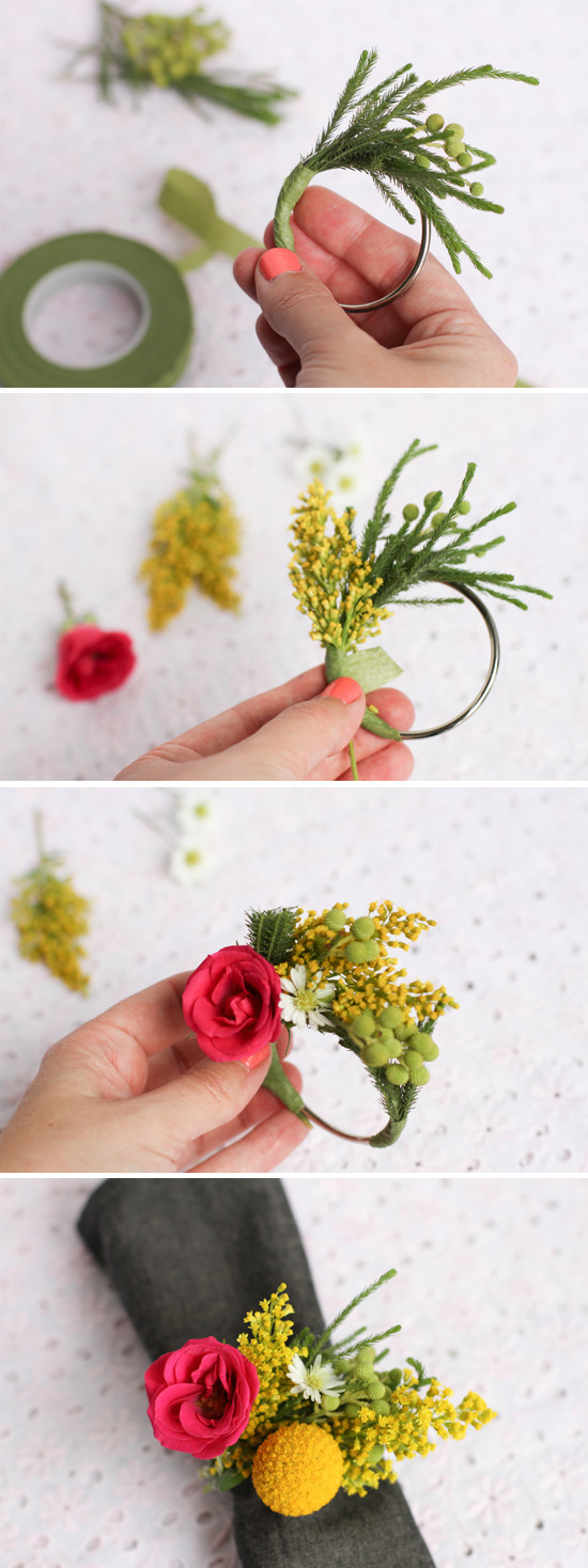 Best ideas about DIY Napkin Rings For Weddings . Save or Pin Make This Fresh Flower Napkin Ring Dinner Party DIY Now.