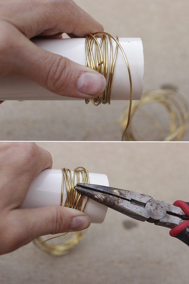 Best ideas about DIY Napkin Rings For Weddings . Save or Pin DIY Gold Wire Napkin Rings Do It Yourself Now.