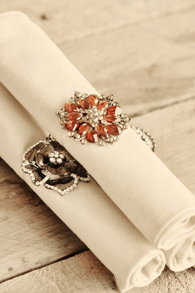Best ideas about DIY Napkin Rings For Weddings . Save or Pin DIY Brooch Napkin Rings Now.