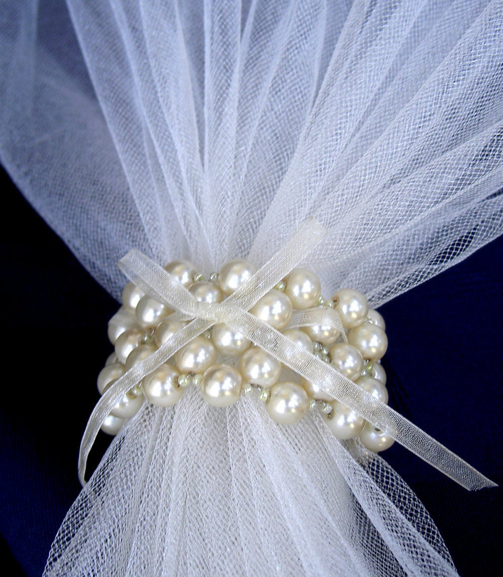 Best ideas about DIY Napkin Rings For Weddings . Save or Pin Wedding Napkin Rings Creme Pearls Napkin Rings Beaded by Umis Now.