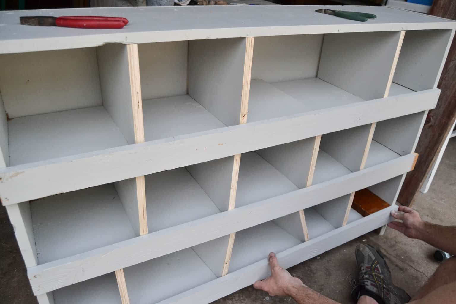 Best ideas about DIY Nest Box . Save or Pin DIY Nesting Boxes Made From A Bookshelf  My Creative Days Now.