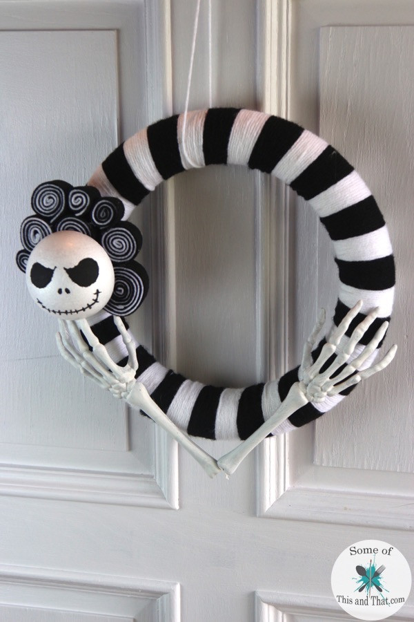 Best ideas about DIY Nightmare Before Christmas . Save or Pin DIY Nightmare Before Christmas Wreath Some of This and That Now.