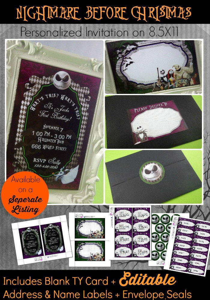 Best ideas about DIY Nightmare Before Christmas . Save or Pin DIY Nightmare Before Christmas Invitation Nightmare Before Now.