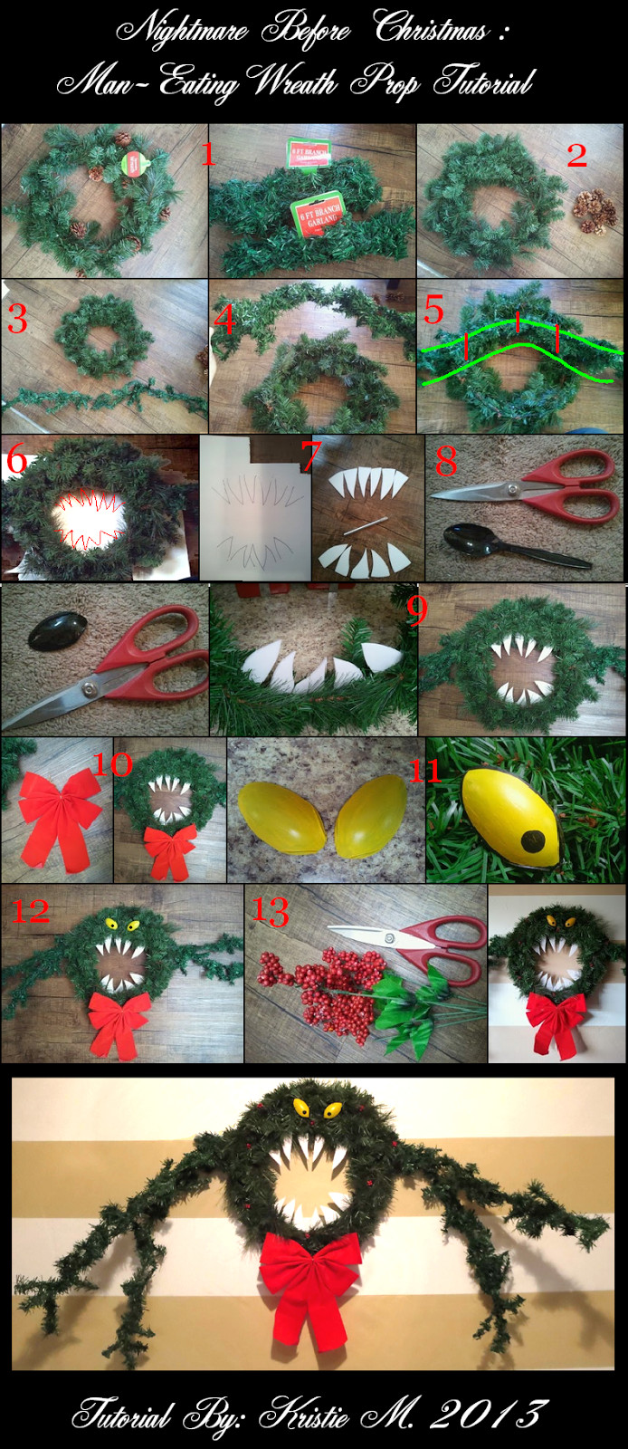 Best ideas about DIY Nightmare Before Christmas . Save or Pin DIY Nightmare Before Christmas Wreath s Now.