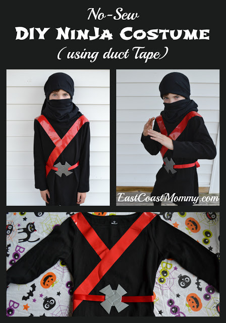 Best ideas about DIY Ninja Mask . Save or Pin East Coast Mommy Easy Black Ninja Costume no sewing Now.