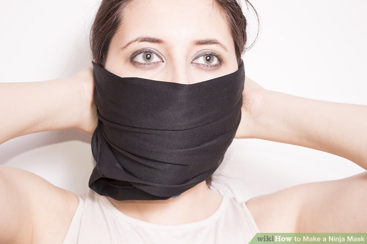 Best ideas about DIY Ninja Mask . Save or Pin 3 Ways to Make a Ninja Mask wikiHow Now.