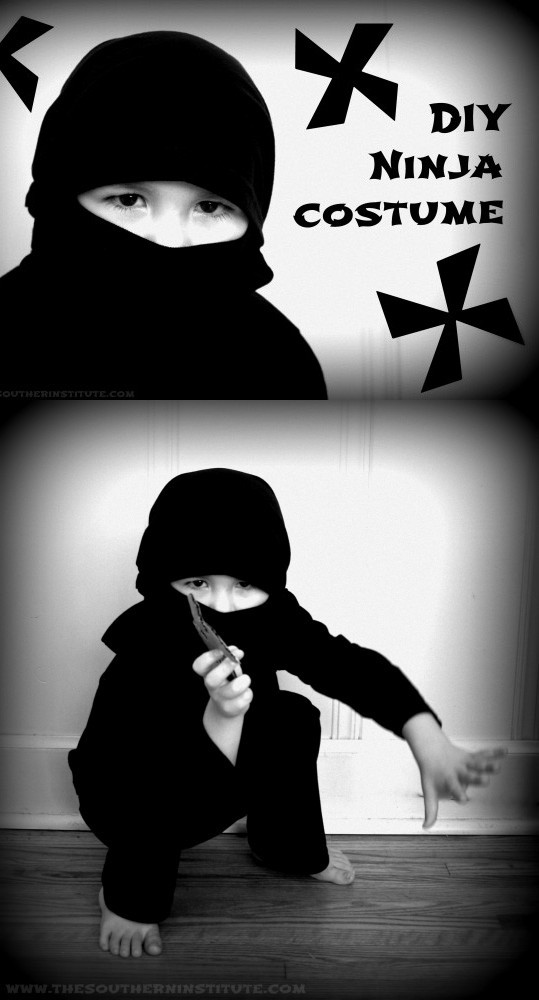 Best ideas about DIY Ninja Mask . Save or Pin DIY No Sew Ninja Costume Tutorial Andrea s Notebook Now.