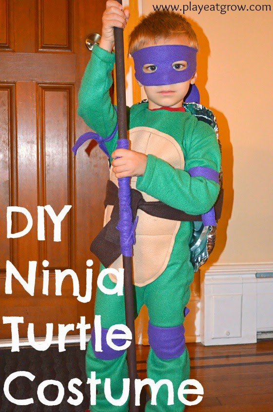 Best ideas about DIY Ninja Turtle Costumes . Save or Pin DIY Teenage Mutant Ninja Turtle Costume Play Eat Grow Now.