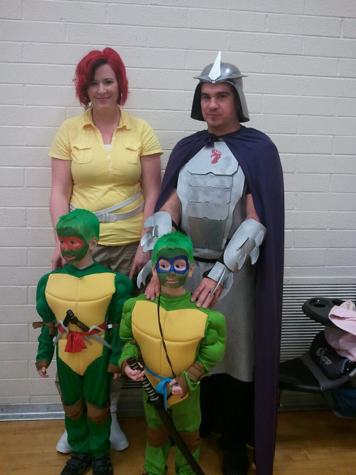 Best ideas about DIY Ninja Turtle Costumes . Save or Pin family TMNT Halloween Costumes Now.