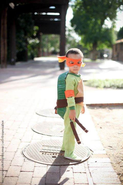Best ideas about DIY Ninja Turtle Costumes . Save or Pin 75 Homemade Halloween Costumes for Kids Easy DIY Kids Now.