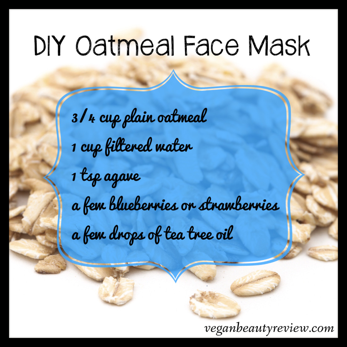 Best ideas about DIY Oatmeal Mask . Save or Pin DIY Oatmeal Face Mask Vegan Beauty Review Now.