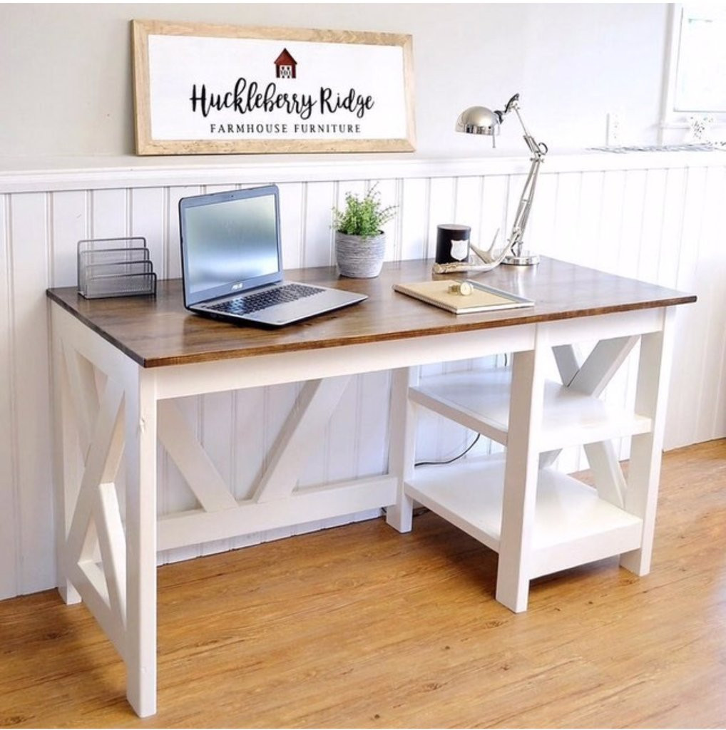 Best ideas about DIY Office Desks . Save or Pin Farmhouse X fice Desk Handmade Haven Now.