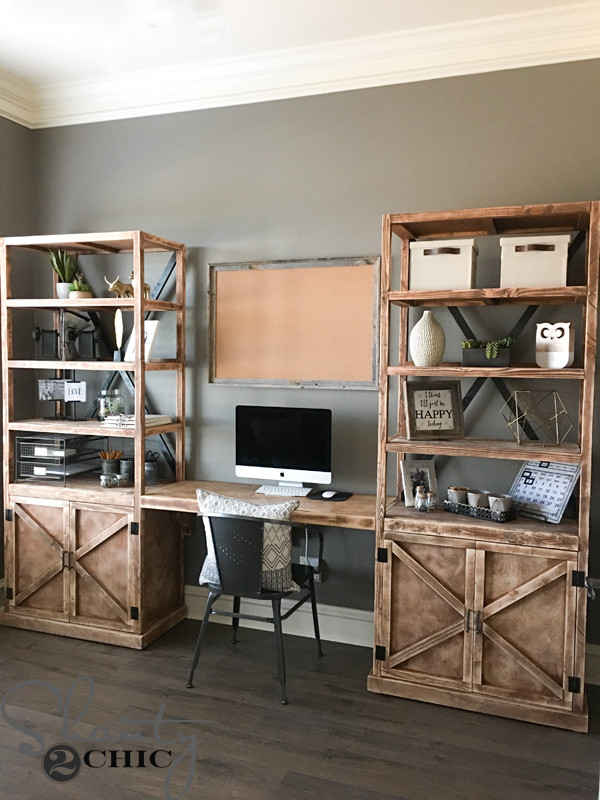 Best ideas about DIY Office Desks . Save or Pin DIY fice Desk System Shanty 2 Chic Now.